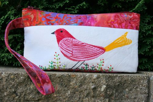 Red bird bag