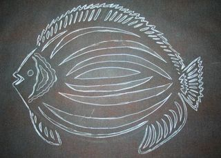 Traced fish pattern